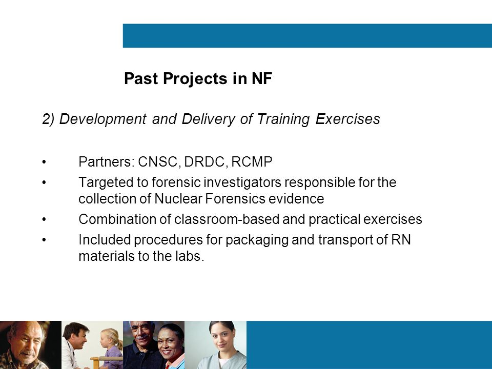 Past Projects in NF 2) Development and Delivery of Training Exercises