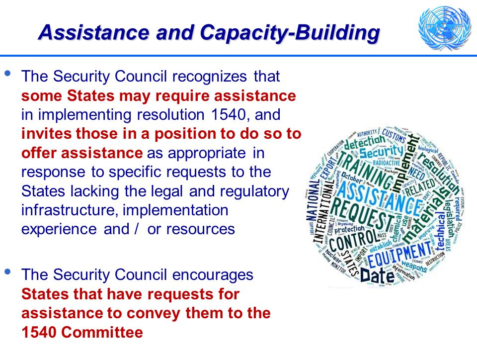 Assistance and Capacity-Building