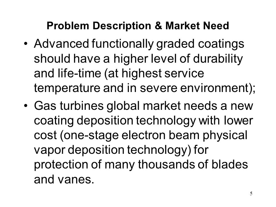 Problem Description & Market Need