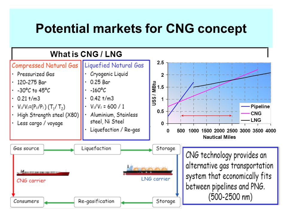 Potential markets for CNG concept