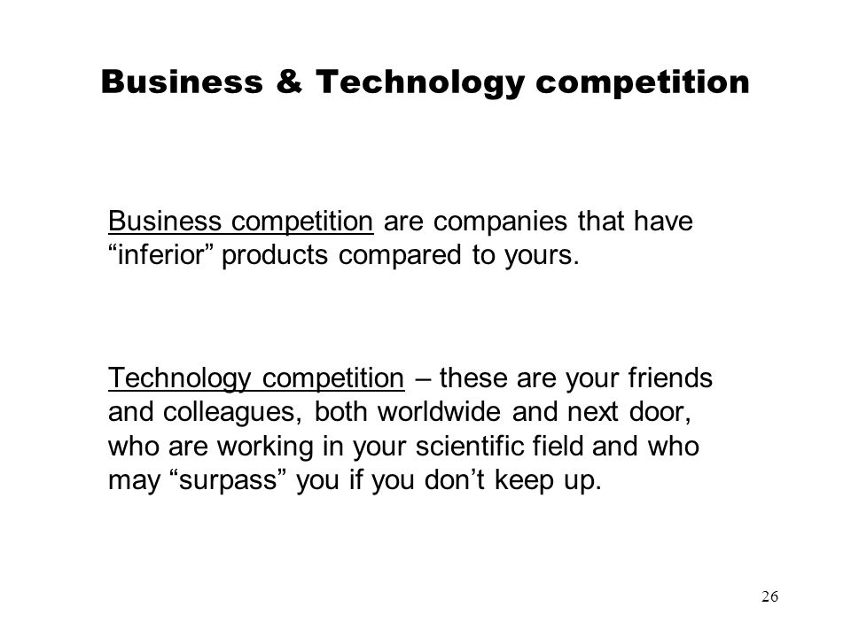 Business & Technology competition