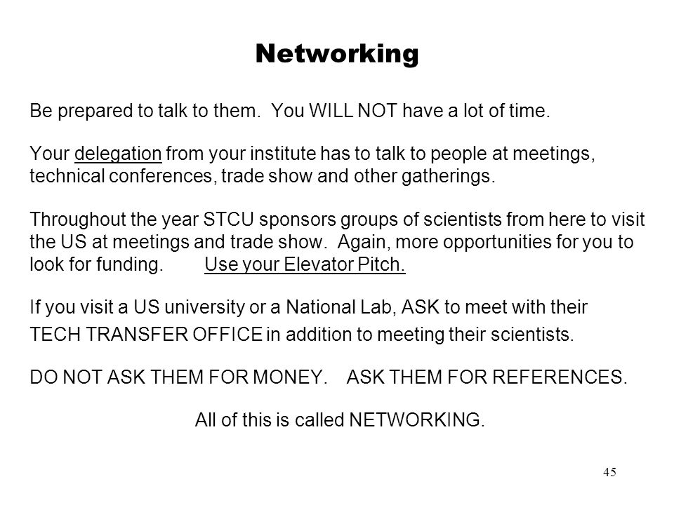 All of this is called NETWORKING.
