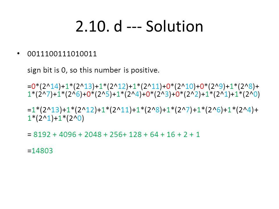 2.10. d --- Solution