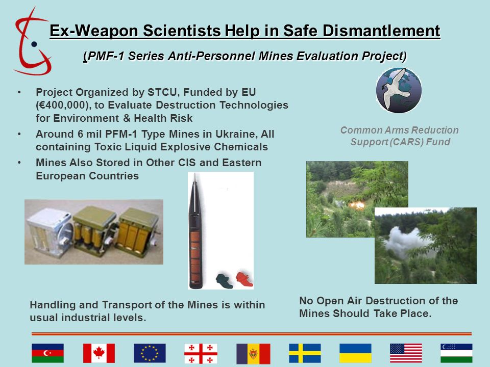 Ex-Weapon Scientists Help in Safe Dismantlement (PMF-1 Series Anti-Personnel Mines Evaluation Project)
