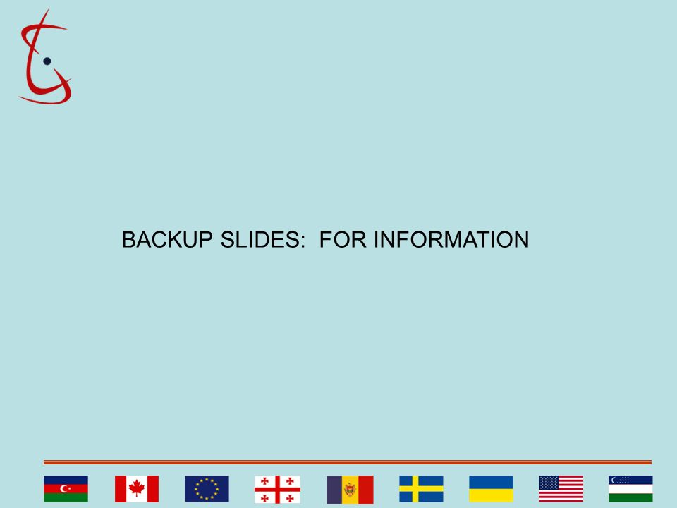 BACKUP SLIDES: FOR INFORMATION