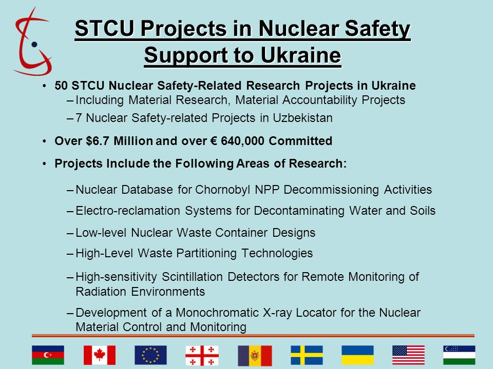 STCU Projects in Nuclear Safety Support to Ukraine
