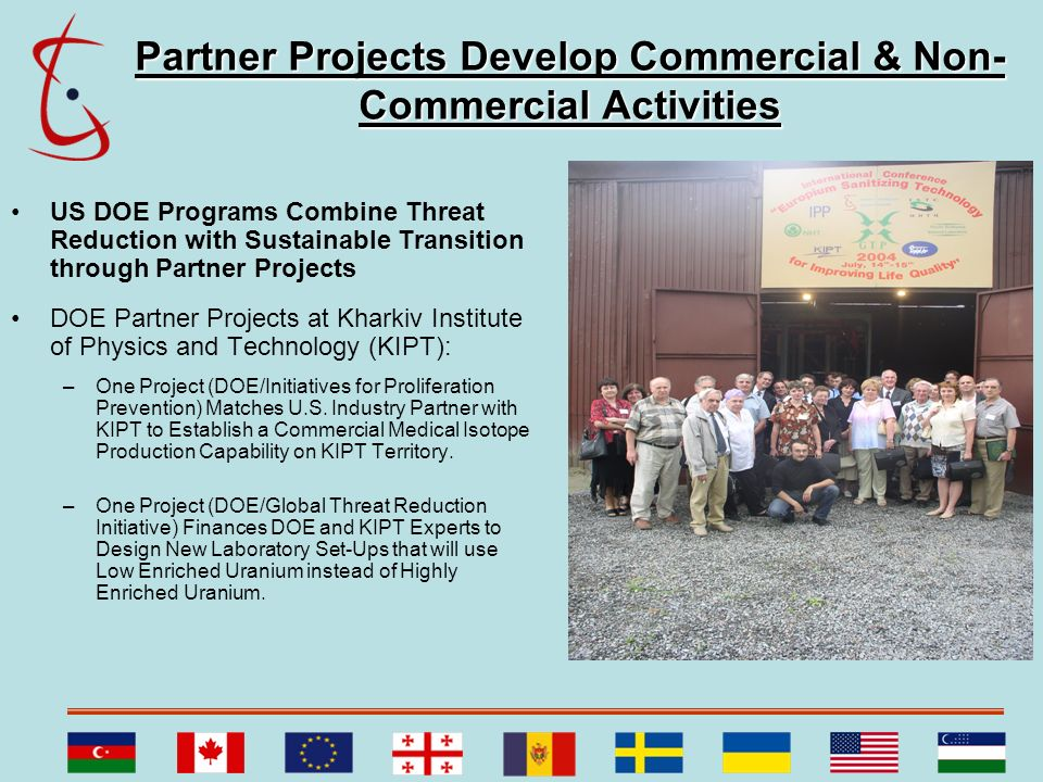 Partner Projects Develop Commercial & Non-Commercial Activities