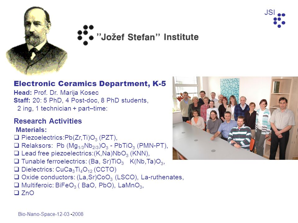 Electronic Ceramics Department, K-5