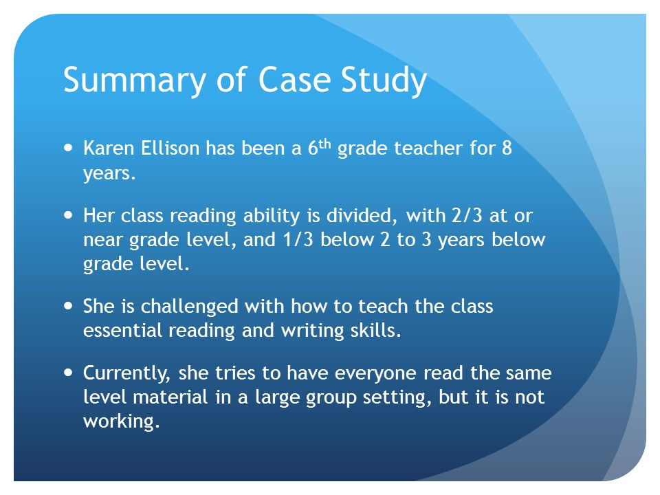 2nd grade reading case study 2016-2-26  as she began 2nd grade  case study: auditory processing, reading and attention  nwea scores ranged at third grade end/spring levels in reading,.