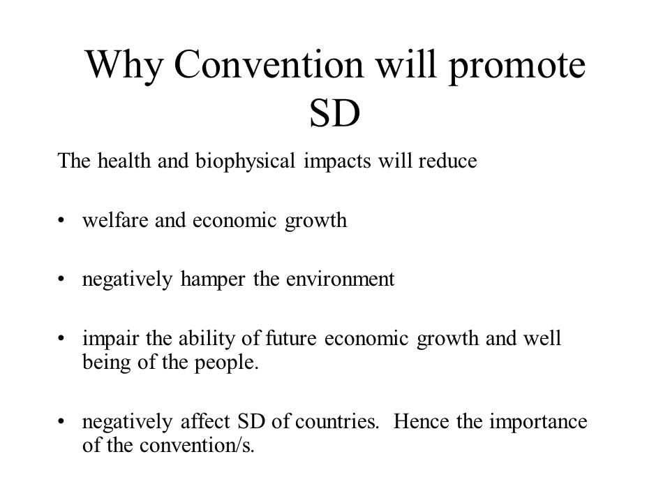 Why Convention will promote SD