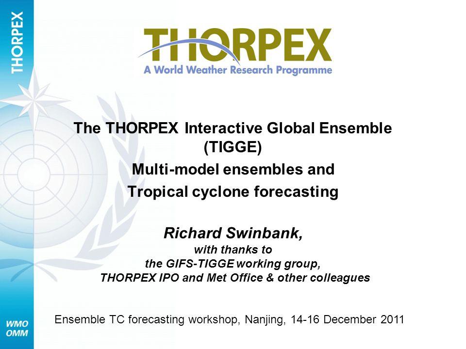 The THORPEX Interactive Global Ensemble (TIGGE)