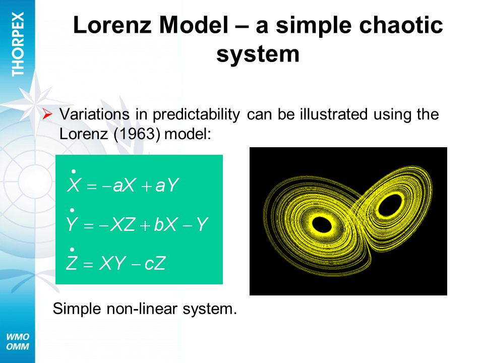 Lorenz Model – a simple chaotic system