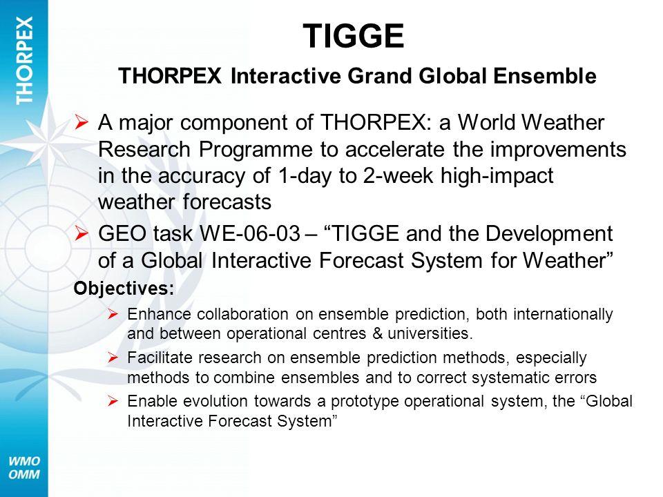 TIGGE THORPEX Interactive Grand Global Ensemble