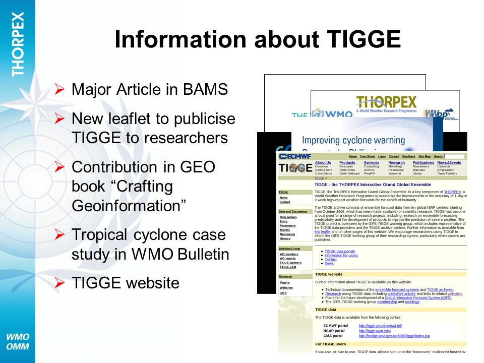 Information about TIGGE