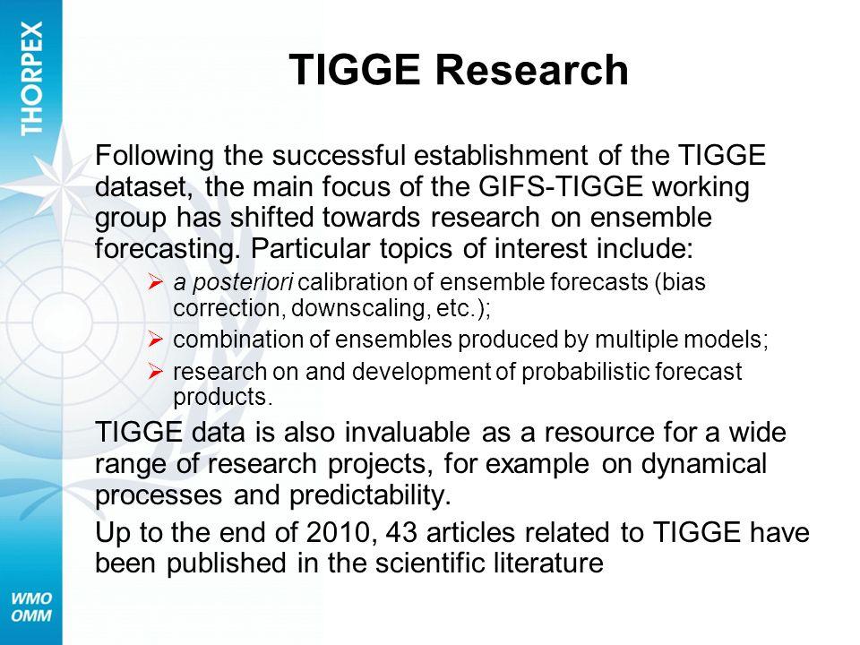 TIGGE Research