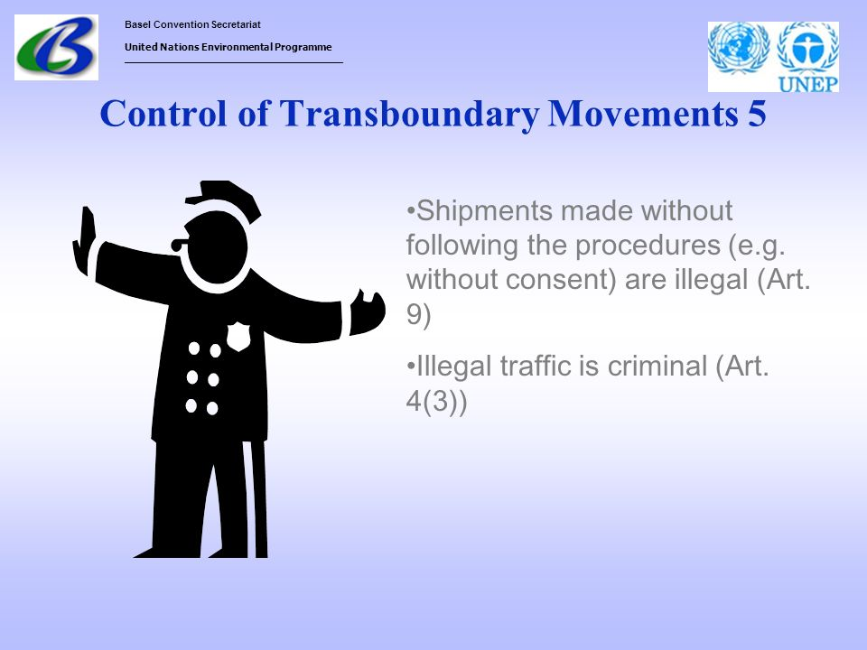 Control of Transboundary Movements 5