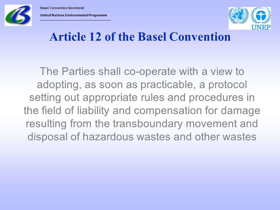 Article 12 of the Basel Convention