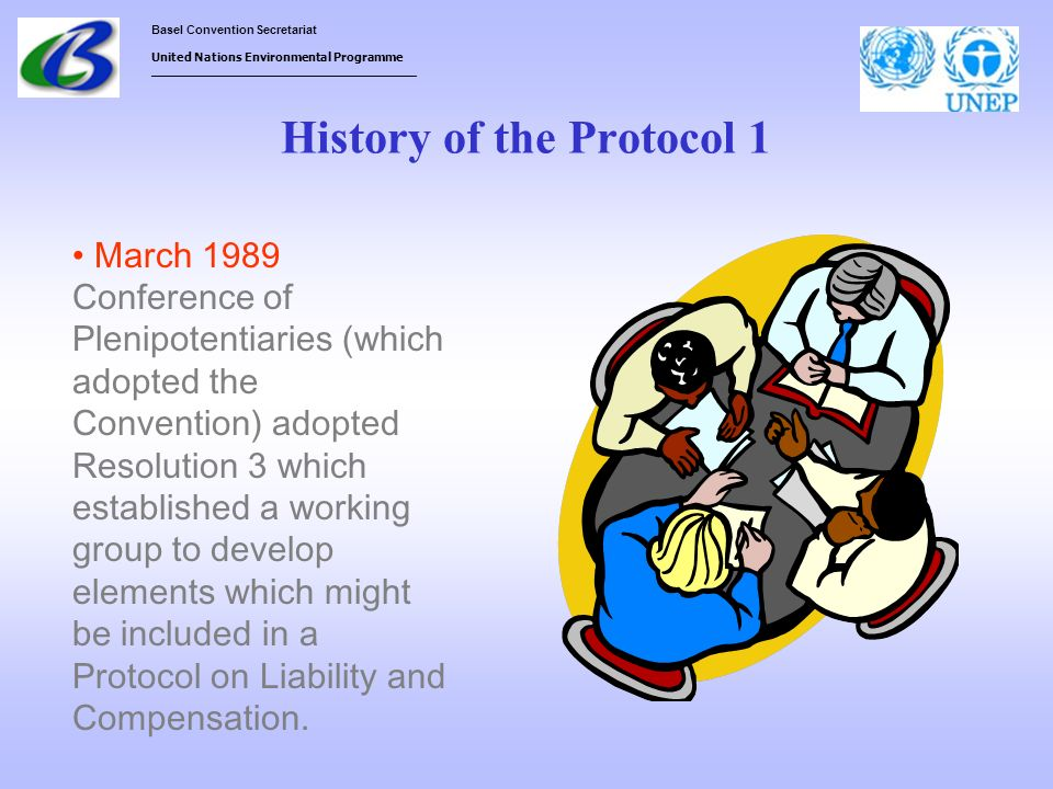 History of the Protocol 1