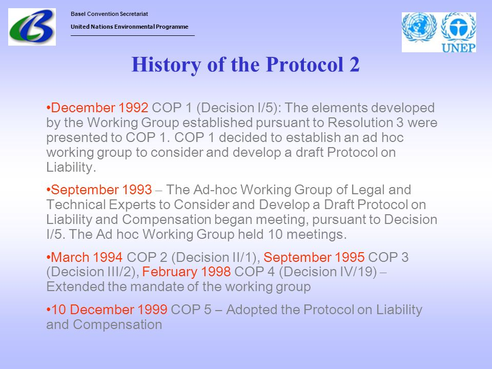 History of the Protocol 2