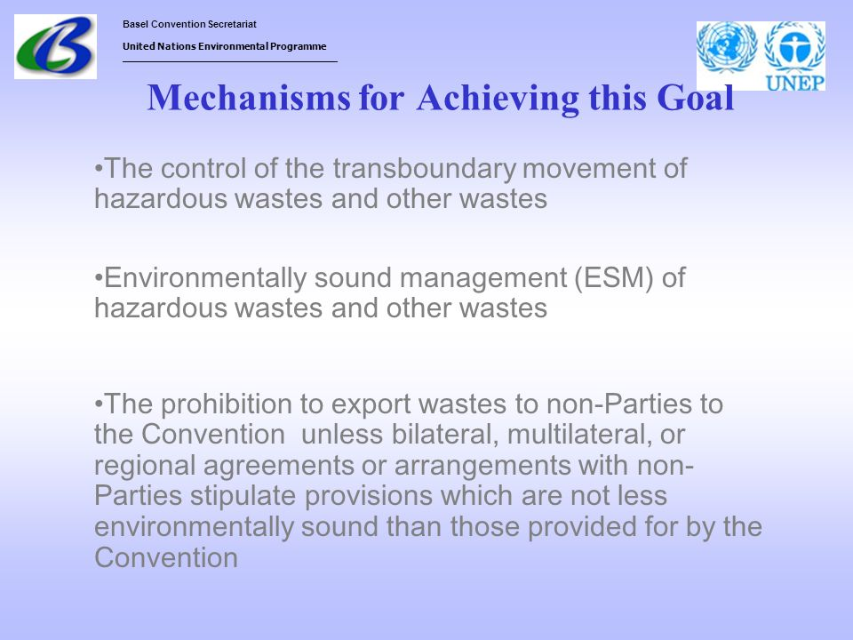 Mechanisms for Achieving this Goal