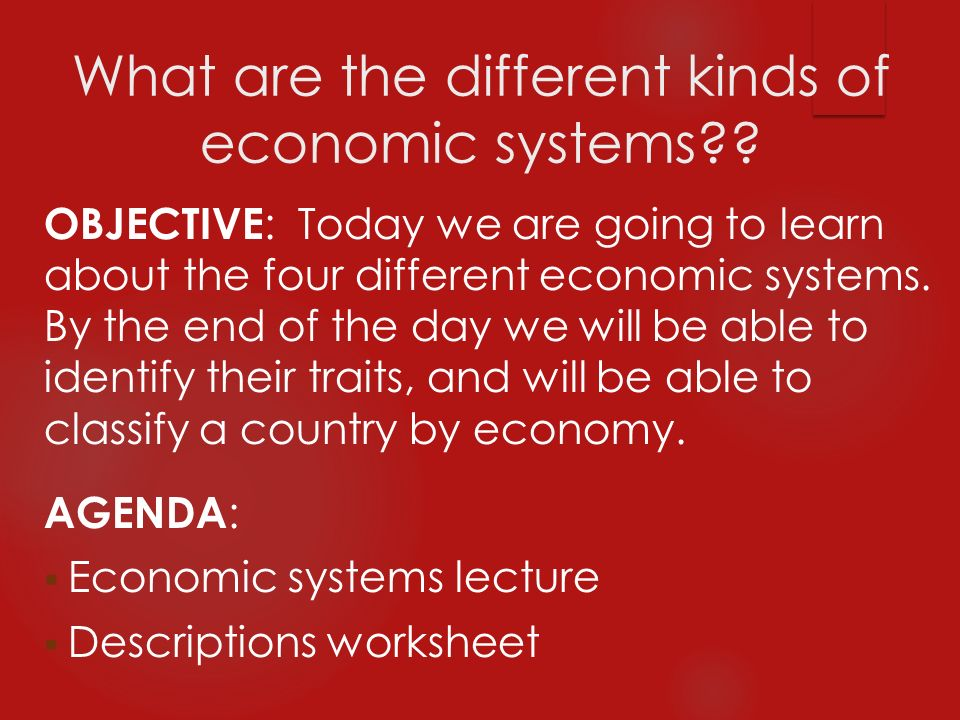 What Are The Different Kinds Of Economic Systems Ppt Video. What Are The Different Kinds Of Economic Systems. Worksheet. Types Of Economies Worksheet At Clickcart.co