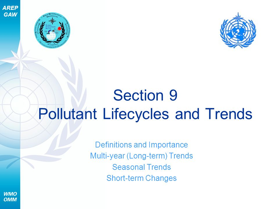 Section 9 Pollutant Lifecycles and Trends