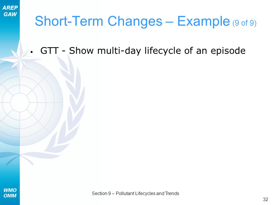 Short-Term Changes – Example (9 of 9)