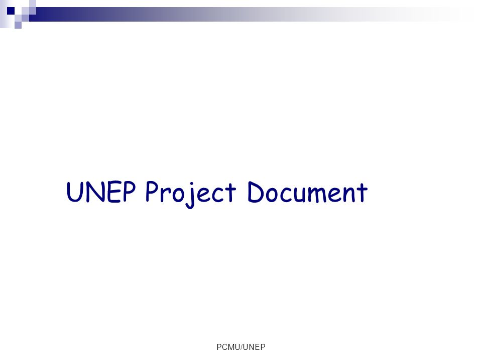 UNEP Project Document