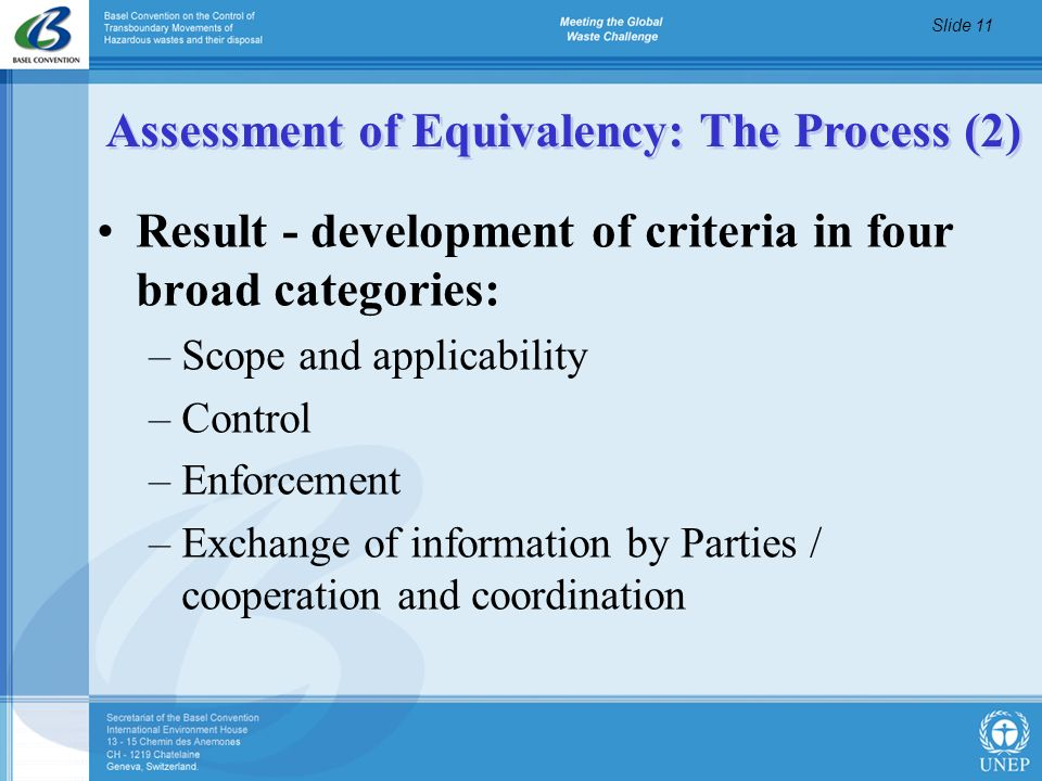 Assessment of Equivalency: The Process (2)