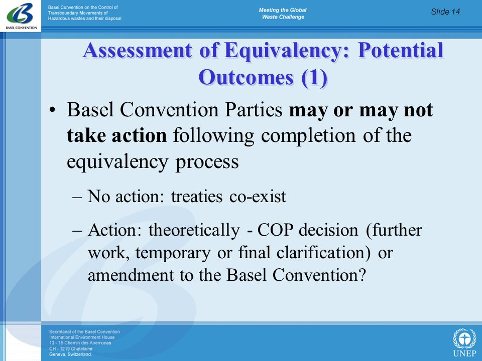 Assessment of Equivalency: Potential Outcomes (1)