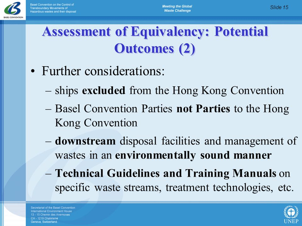 Assessment of Equivalency: Potential Outcomes (2)