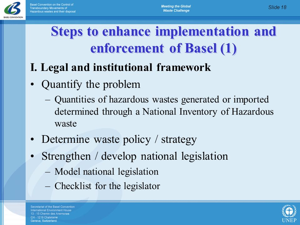 Steps to enhance implementation and enforcement of Basel (1)