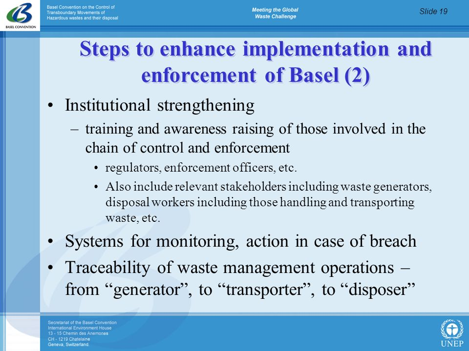 Steps to enhance implementation and enforcement of Basel (2)