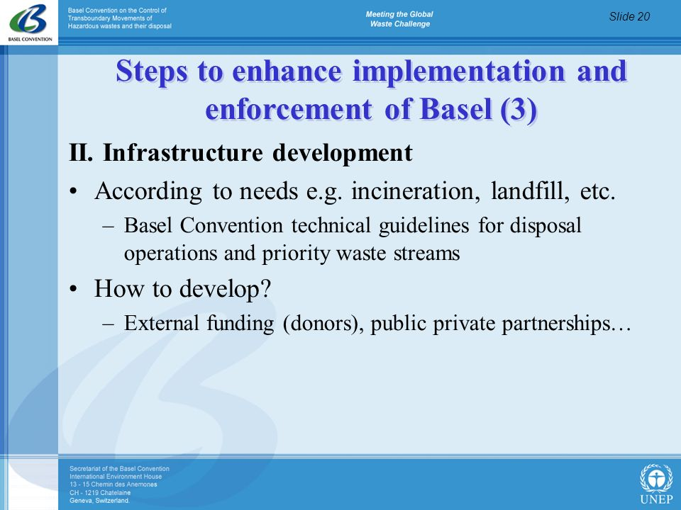Steps to enhance implementation and enforcement of Basel (3)