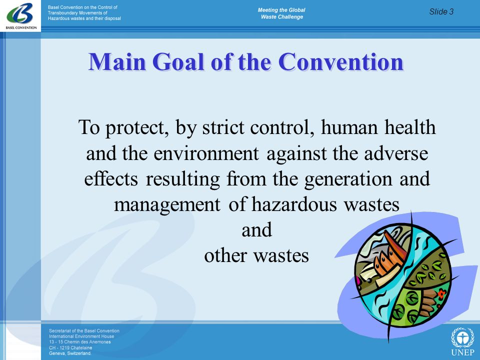 Main Goal of the Convention