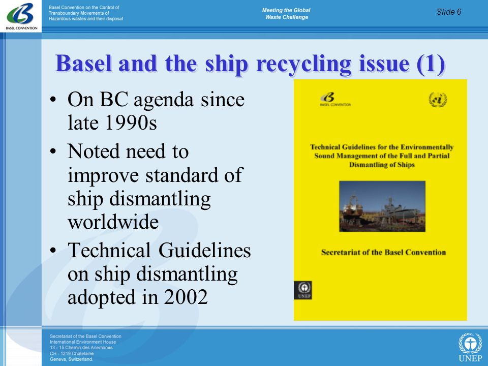 Basel and the ship recycling issue (1)