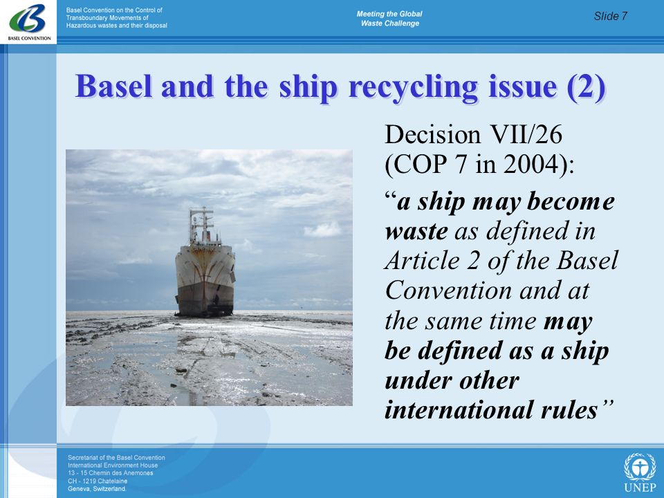 Basel and the ship recycling issue (2)