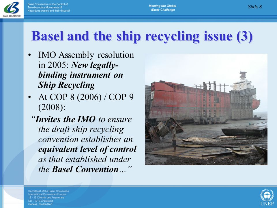 Basel and the ship recycling issue (3)