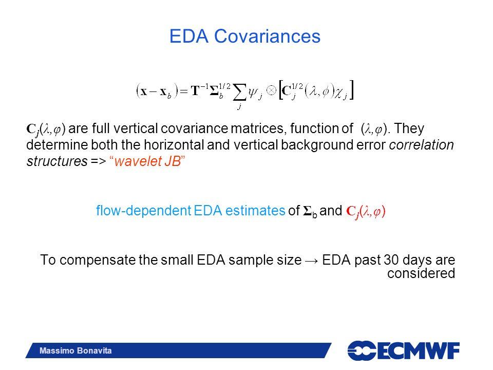 flow-dependent EDA estimates of Σb and Cj(λ,φ)
