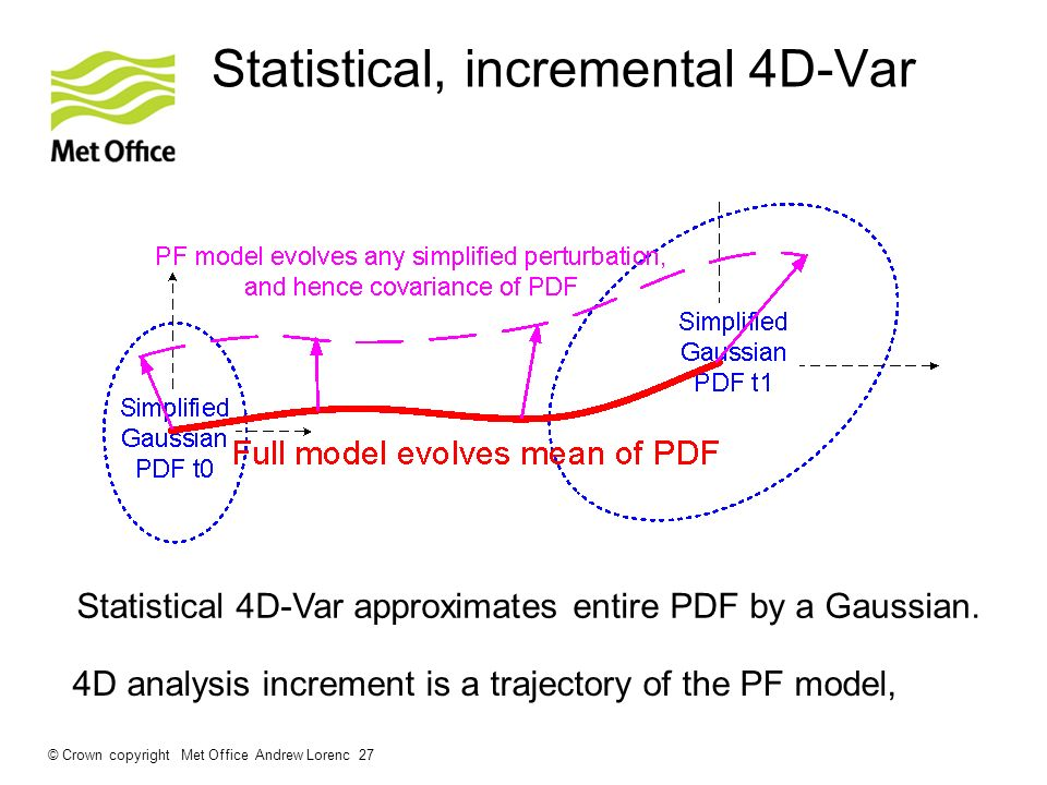 Statistical, incremental 4D-Var
