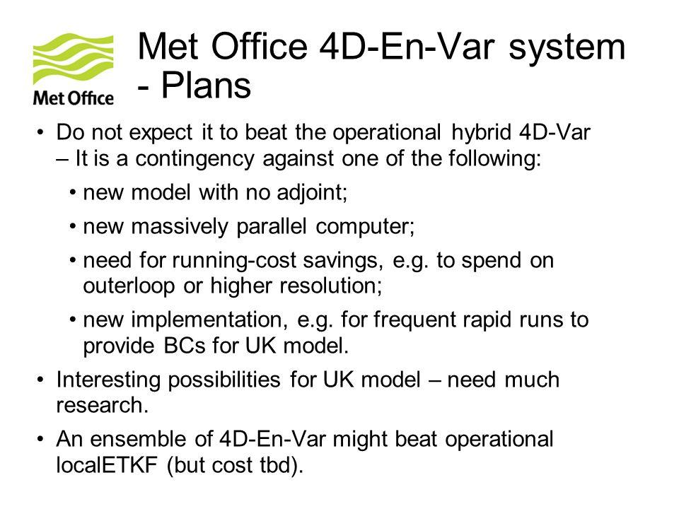 Met Office 4D-En-Var system - Plans