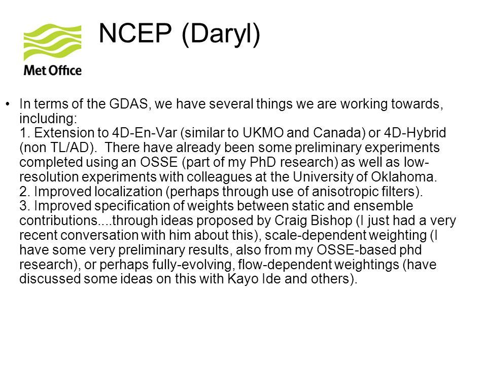 NCEP (Daryl)