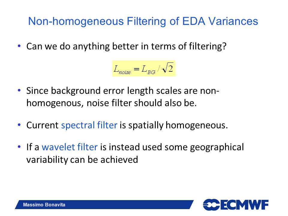 Non-homogeneous Filtering of EDA Variances