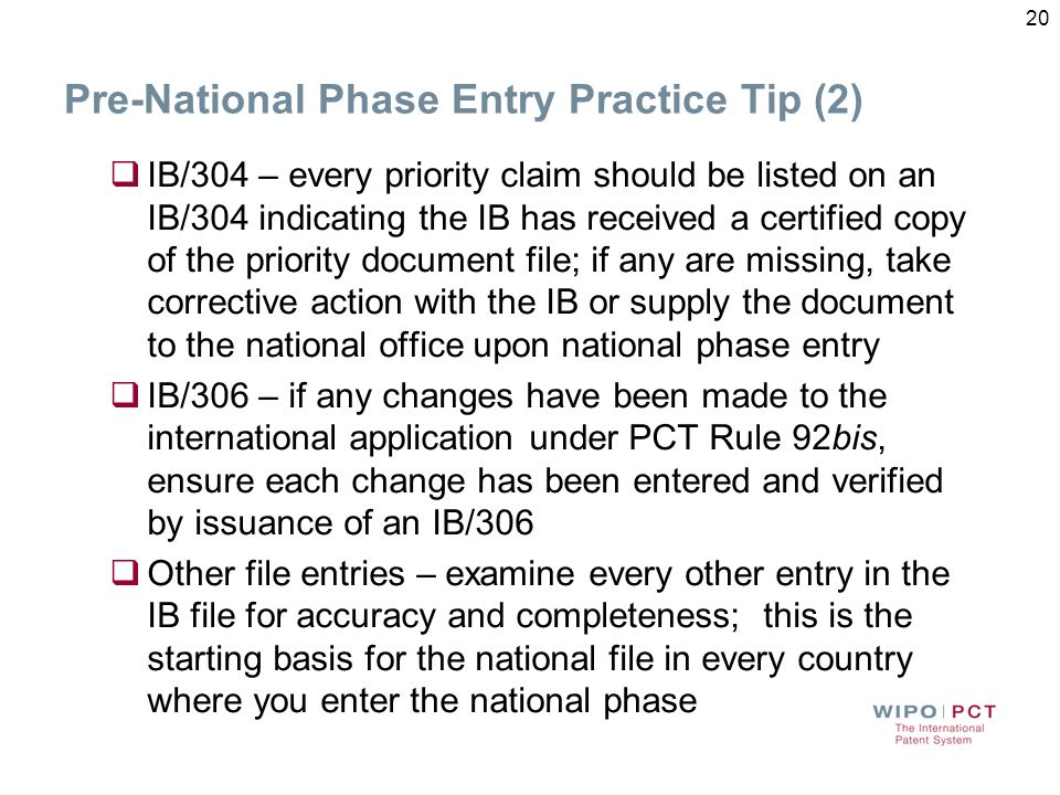 Pre-National Phase Entry Practice Tip (2)