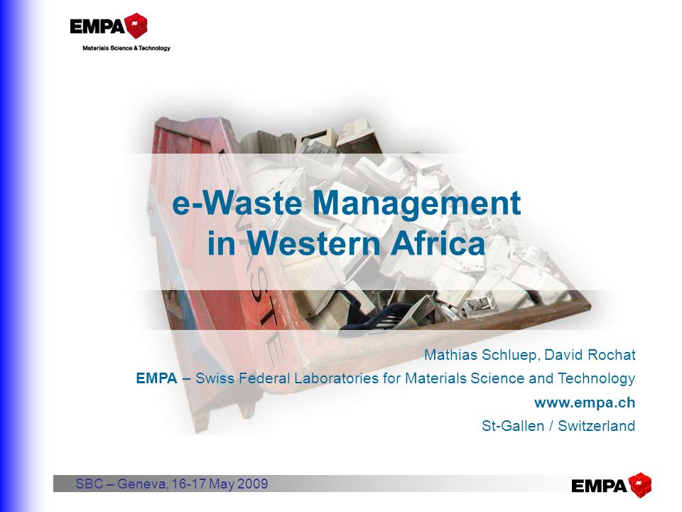 e-Waste Management in Western Africa