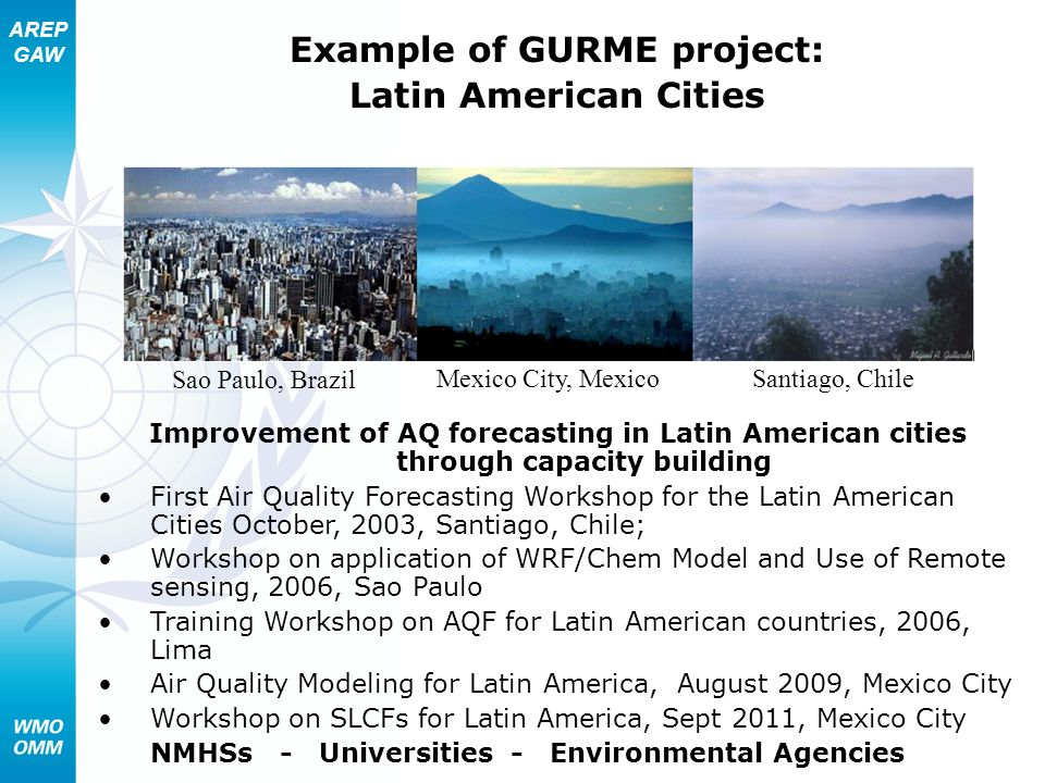 Example of GURME project: