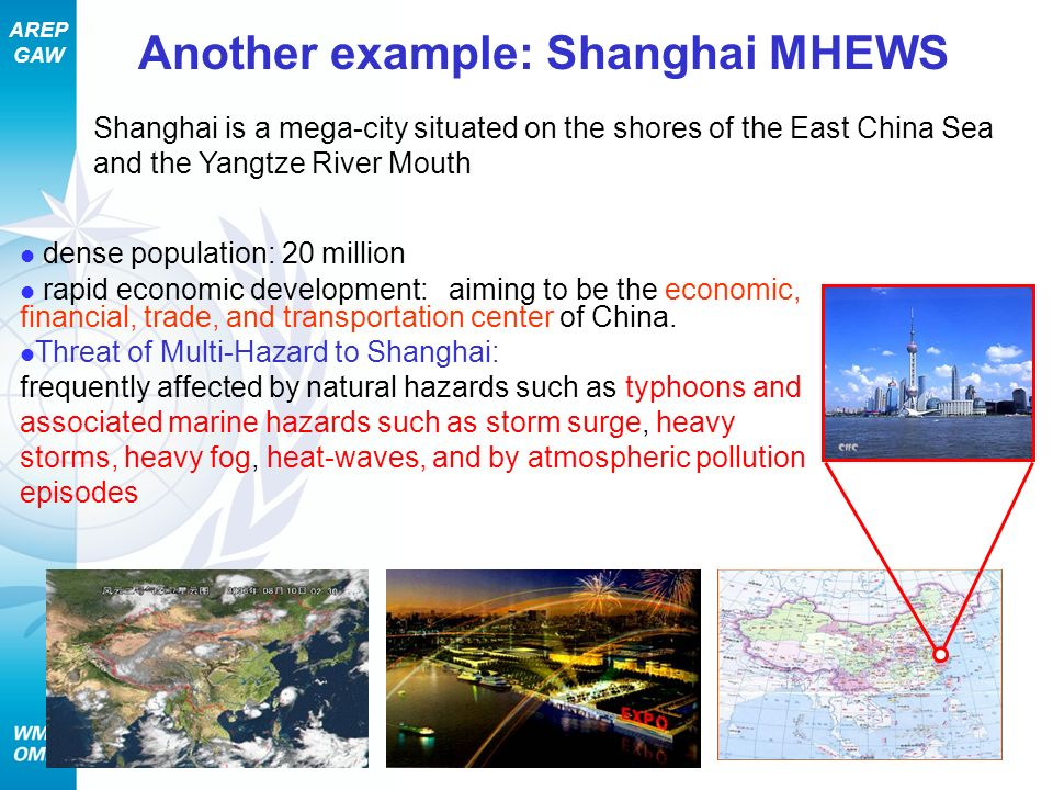 Another example: Shanghai MHEWS