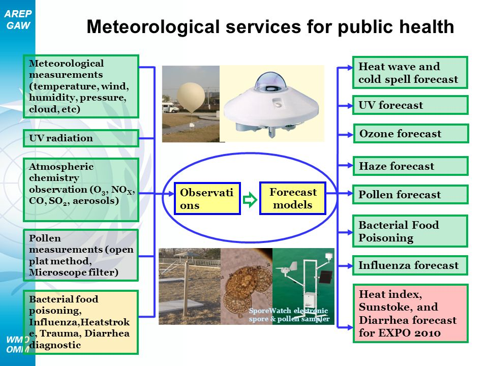 Meteorological services for public health