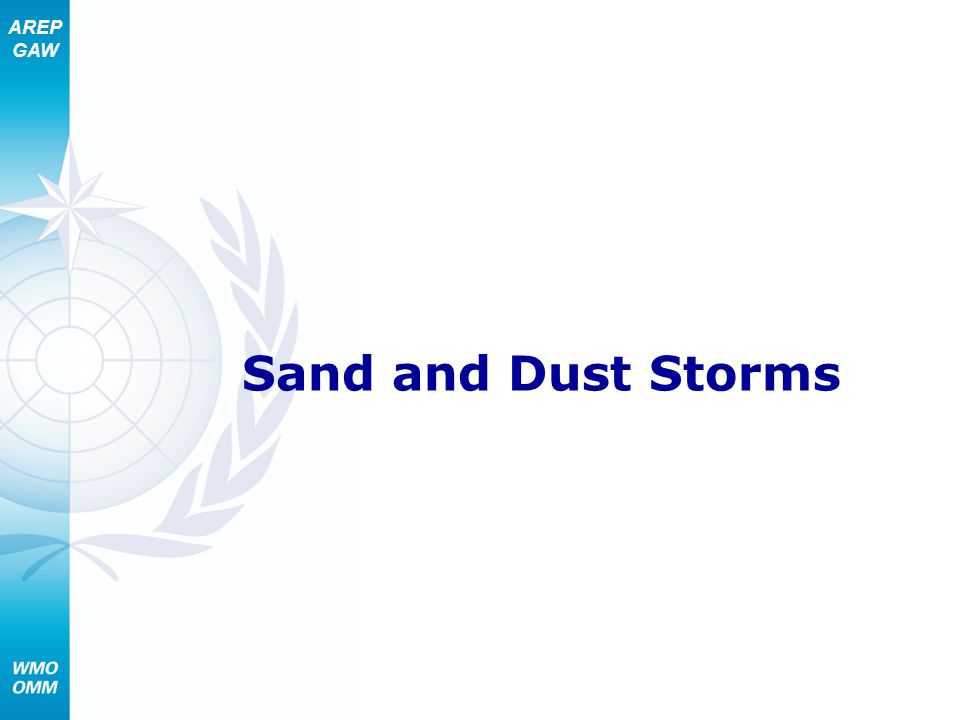 Sand and Dust Storms