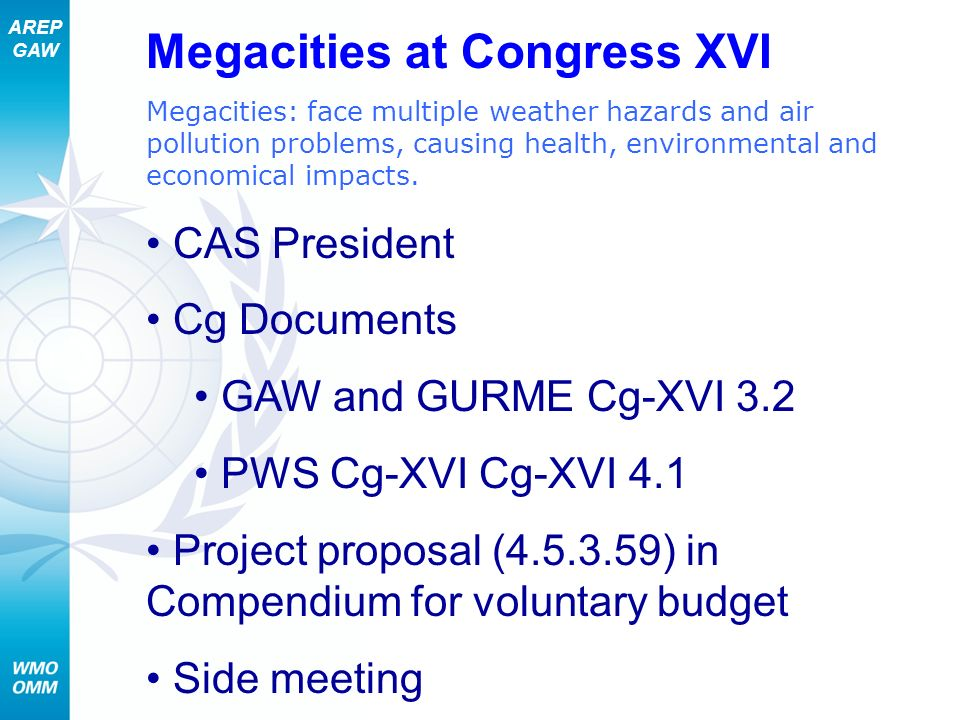 Megacities at Congress XVI